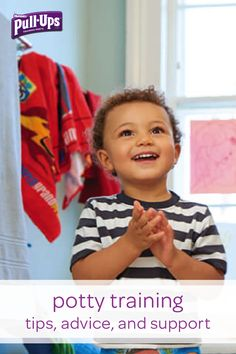 Let the experts at Pull-Ups help you and your little one through his potty training journey. You can find plenty of articles from experienced professionals ready to give you helpful tips, advice, and support as you guide your toddler through potty training. Learn how to deal with situations like potty stage fright or helping your child remember to wash his hands after using the potty. No matter what your experience is, Pull-Ups is here to help.