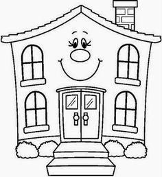 Free Village Free Coloring Page Cartoon - Fun Stuff School Coloring Pages, Cute Coloring Pages, Coloring Pages For Kids, Coloring Sheets, Free Coloring, Coloring Books, Art Drawings For Kids, Drawing For Kids, Child Draw