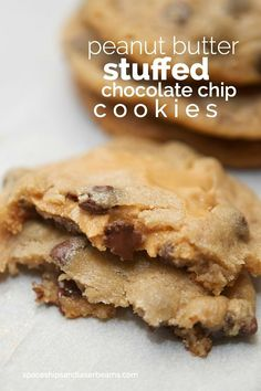 Peanut Butter Stuffed Chocolate Chip Cookies #OurAmericanKitchen (AD)