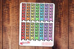 Hand drawn doodle #planner stickers https://www.etsy.com/listing/499312528/heart-checklist-doodle-icon-planner