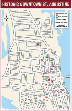 st augustine florida, map to get aquainted and plan where to go.