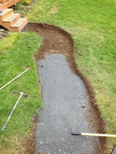 walkway made from recycled granite countertops_2