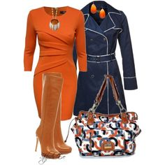 Pin by Joannie Cote on East Rugdale Court mode Classy Outfits, Chic Outfits, Fall Outfits, Fashion Outfits, Womens Fashion, Fashion Trends, Dress Outfits, Orange Outfits, Office Outfits