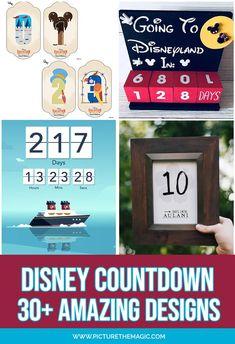 The Best Disney Countdown apps, calendars, and DIY crafts! Disney Magic Cruise Ship, Disney Wonder Cruise, Disney Dream Cruise, Disney Countdown App, Disneyland Countdown, Disneyland Tips, Disney Calendar, Disney Diy, Amigurumi