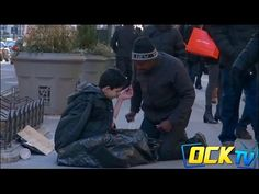 The only person who stops to help this freezing homeless child on the street will shock you | Rare