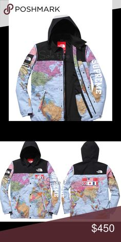 The north face baby infant 3 6m new babies tags and one piece the north face supreme world map jacket new nwt gumiabroncs Images