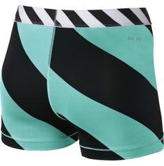 Nike Women's 3'' Pro Diagonal Stripe Compression Shorts - Dick's Sporting Goods