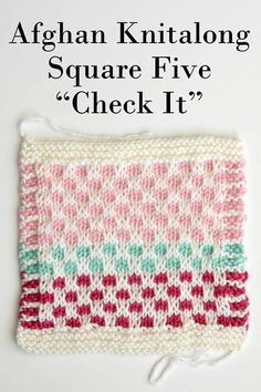 Afghan Knitalong Square 5 - Check It