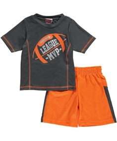 4aea49d63b59 Get your little athlete into this 2-piece from Mad Game! T-shirt and shorts  are breathable performance material for active comfort.