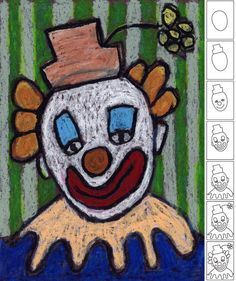 You searched for label/oil pastel · Art Projects for Kids how to draw a clown for the Clown of God Clown Cirque, Le Clown, Creepy Clown, Drawing For Kids, Art For Kids, Projects For Kids, Art Projects, Circus Art, Circus Clown