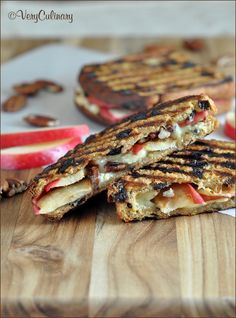 Roasted Apples, Brie, and Pecan Panini | Very Culinary