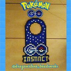 Pokemon Go door hanger perler beads by dragonstone_beadworks