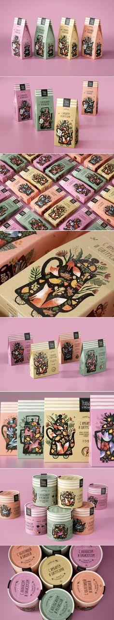 Honey House Tea Packaging by Masha Ponomareva | Fivestar Branding Agency – Design and Branding Agency & Curated Inspiration Gallery #tea #teapackaging #packaging #packagedesign #packaginginspiration #behance #pinterest #dribbble #fivestarbranding