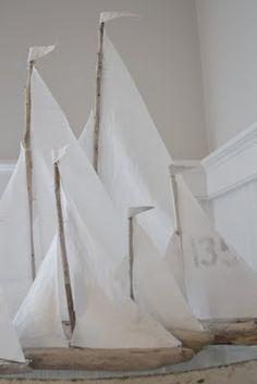 driftwood sailboats by lovingjulia