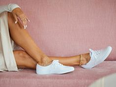 Keds Tennis Shoes, Keds Sneakers, White Keds, Keds Champion, Cool, Cute Outfits, Flats, Clothes, Style