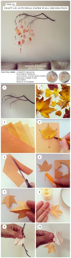 How to craft an autumnal paper wall decoration