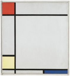 Mondrian Composition with Red Yellow and Blue