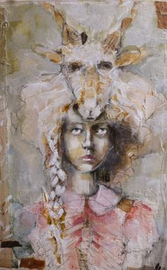 Fractured Angelics mixed media - Kate Thompson