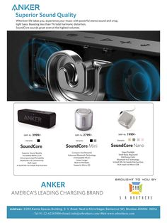 Great News!! Americas Top Brand ANKER specializing in Superior Sound Quality is now available in India with S R BROTHERS. High quality! Latest technology! Grab this opportunity! More Power to you! Email us now at info@srbrothers.com for all details. #anker #powerbanks #chargers #highquality