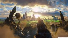 fantasy art landscapes clouds air balloons