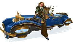 Concept Art Freya and Car by Anna Christenson