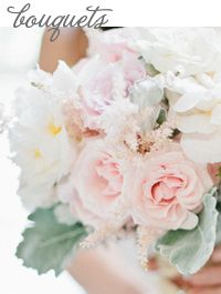 Style Unveiled - Style Unveiled | A Wedding Blog - Soft Pastel Colored Bridal Bouquet - Seafoam & Blush