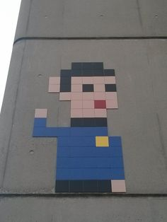 Spock by Space Invader in #Paris #streetart #urbacolors