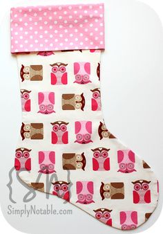 Retro-Style Christmas Stocking Sewing Pattern & Tutorial
