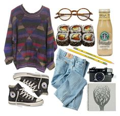 Grunge Weather ---featuring Dickies, Converse, Tom Ford, Dixon Ticonderoga, Jura, Sweater, grunge, jeans