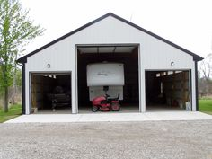 1000 images about barns on pinterest rv garage pole for Pole barn for rv storage