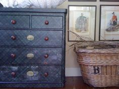 I must try this on an old dresser (since I would never be able to · Old  DressersTartanPlaidBasketsGingham