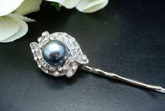 Pearl Hair PinBridal Pearl Hair Pin Wedding Hair by DivineJewel, $17.00
