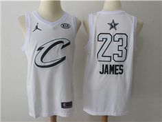 ee3471e50 Cleveland Cavaliers  23 LeBron James White 2018 All-Star Game Swingman  Jersey Basketball Jersey