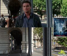 Inception (2010, Leonardo DiCaprio, Joseph Gordon-Levitt): Pont de Bir-Hakeim, Paris, France