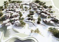 60 ideas landscaping architecture masterplan render for 2019 Masterplan Architecture, Landscape Architecture Model, Water Architecture, Urban Architecture, Residential Architecture, Landscape Design, Architecture Diagrams, Landscape Model, Architecture Portfolio