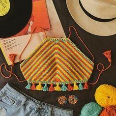 Crochet Summer Tops, Crochet Crop Top, Cute Crochet, Crochet Crafts, Crochet Tops, Crochet Projects, Crochet Designs, Crochet Patterns, Bikini Crochet