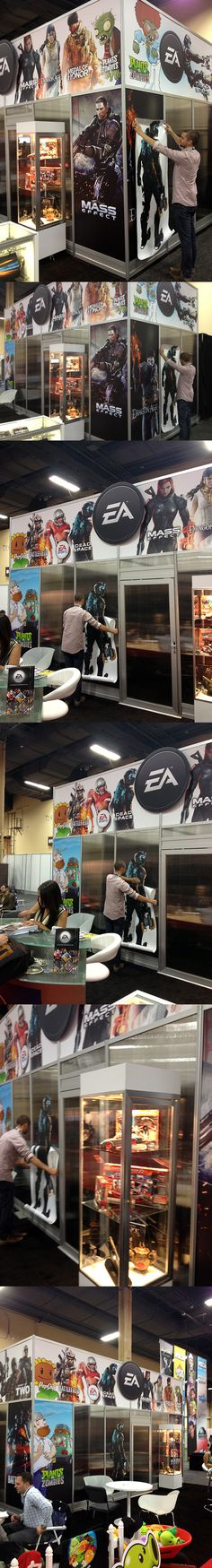 WALLS 360 created  a custom collection of large-format wall graphics for EA's booth at the Las Vegas Licensing Expo.     http://www.Walls360.com/EA