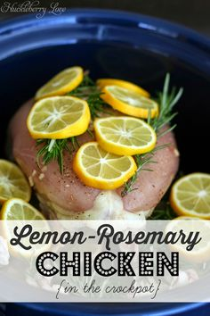 Lemon Rosemary Chicken {Crock Pot Recipe}- healthy and delicious!