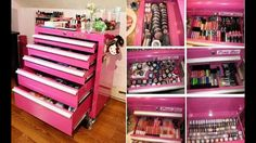 Pink makeup tool box (what an awesome idea!) - Pink makeup tool box (what an awesome idea!) Pink makeup tool box (what an awesome idea!) Pink make -