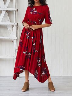 Color : Burgundy Season : Summer, Fall Style : Chic & Modern Embellishment : Flowers The post Flower Printed Sleeved Long Dress appeared first on Power Day Sale. Bodycon Outfits, Maxi Outfits, Chic Outfits, Fashion Outfits, Bodycon Dress, Womens Fashion, Floral Maxi Dress, Chiffon Dress, Spring Dresses