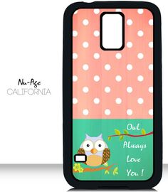 Cute Owl Polka Dot Design Samsung Galaxy S5 Case by NuAgeProducts, $13.23
