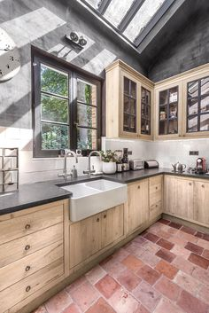 Yellow and black kitchen decor kitchen design website,modular kitchen set finished kitchen cabinets,kitchen cupboard options oak kitchen carts and islands. Kitchen Inspirations, Interior Design Kitchen, Kitchen Design Decor, Concrete Walls Interior, Kitchen Interior, Home Kitchens, Home, Kitchen Remodel, Home Decor