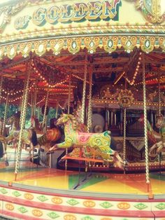 Vintage Carousel...I took this picture at a Vintage Fairground after having a rather fine ride on it...oh my it was fast!