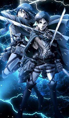 Eren & Mikasa ll Attack on Titan ll Attack On Titan Hoodie, Attack On Titan Eren, Eren Aot, Eren And Mikasa, Otaku Anime, Anime Manga, Anime Art, Eremika, Naruto Art