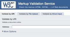 W3C Markup Validation Service | w3c.org
