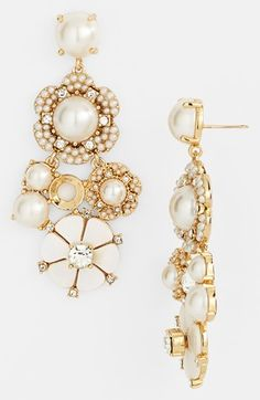 kate spade new york 'park floral' chandelier earrings available at the Nordstrom Wedding Suite