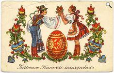 húsvéti képeslap,  Magyarország (Fotó: A Postamúzeum - Budapest gyűjteményéből)