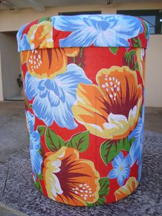 Hat Boxes, Drum Shade, Outdoor Furniture, Outdoor Decor, Decoupage, Barrel, Ottoman, Recycling, Organization
