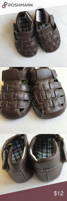 Gymboree Brown Boat Sandals    Soft Bottoms Gymboree Shoes Sandals & Flip Flops