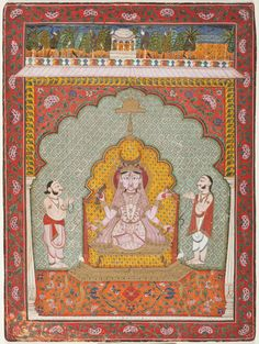 Durga Being Worshipped by Two Devotees | LACMA Collections